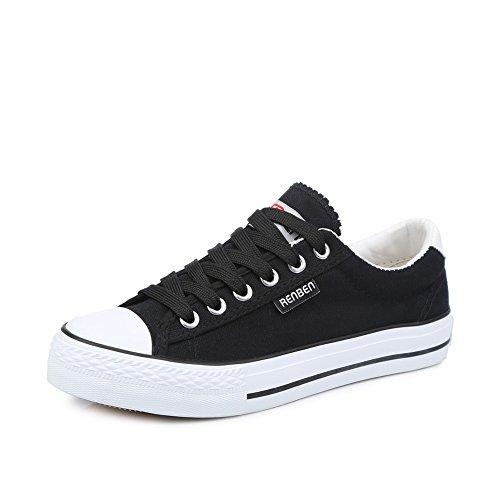 Zapatos clásicos del estudiante/Versión coreana de los zapatos de color llano bajo F