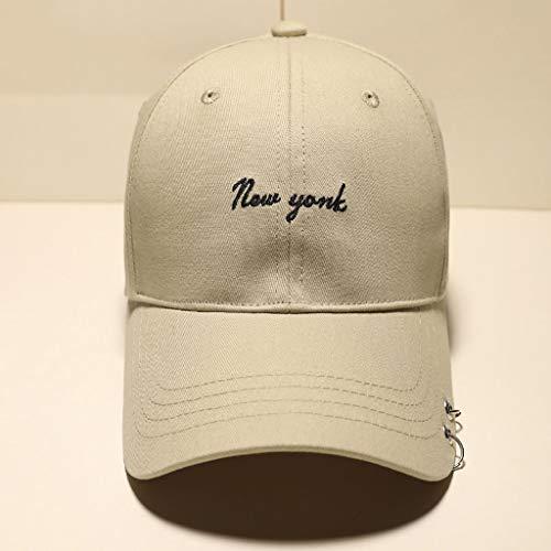Hombre Trend Visor Verano Caqui Hoop Gorra Hip Gorra Corea Sombrero de de Personalidad Mujer Hop CJH Moda Calle béisbol 5E4qfS