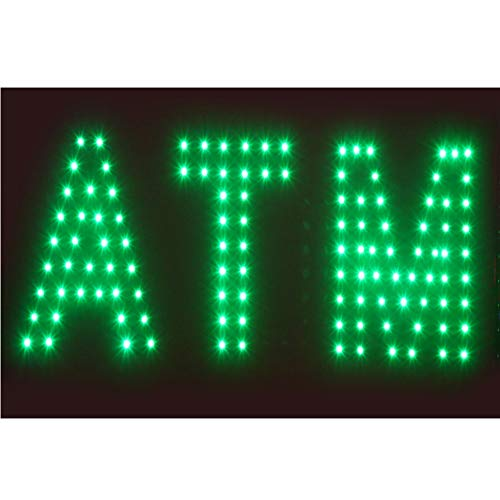 Sign Led Atm - CHENXI Animated LED Business ATM SIGN +On Off Switch Bright Light 48 X 25 CM (48 X 25 CM, D)