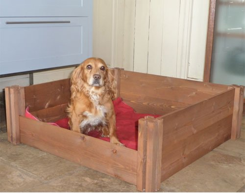 Long FSC Wooden Dog & Puppy Whelping Box (30cm x 118 cm x 90cm)