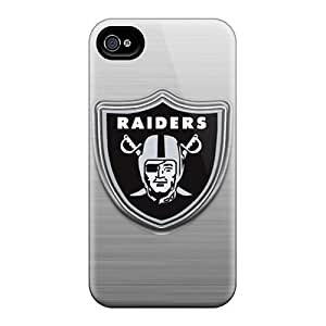 Awesome Design Oakland Raiders Hard Case Cover For Iphone 4/4s by icecream design