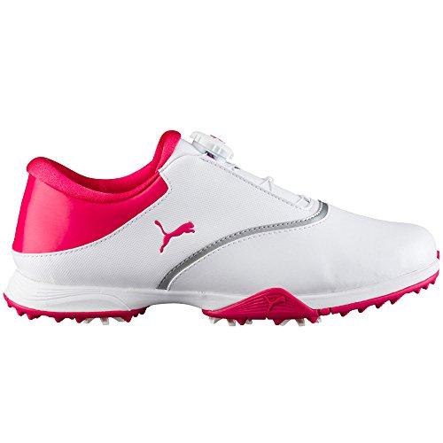 PUMA Golf Women's PG Blaze Disc Golf Shoe, White-Bright Rose, 8.5 Medium US by PUMA