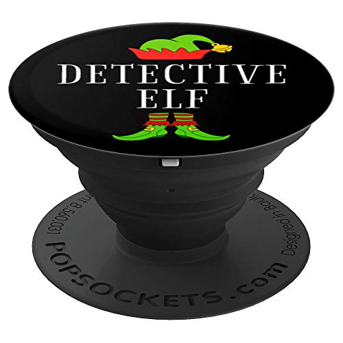 Detective Costume Ideas (Detective Elf Costume Funny Christmas Xmas Holiday Matching PopSockets Grip and Stand for Phones and)