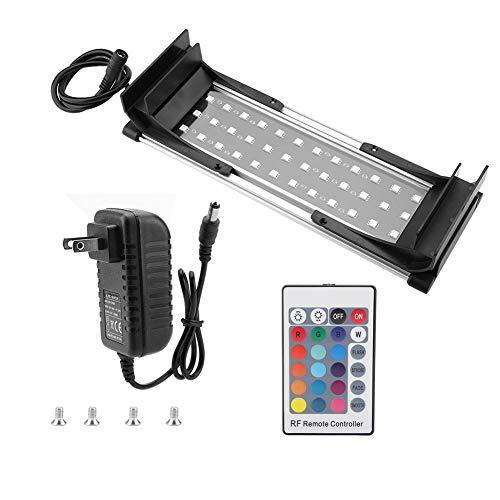 Yutiny Aquarium Light Adjustable Fish Tank LED Lamp Ultra Slim Aquarium Dimmable Light with Clip (25-30)