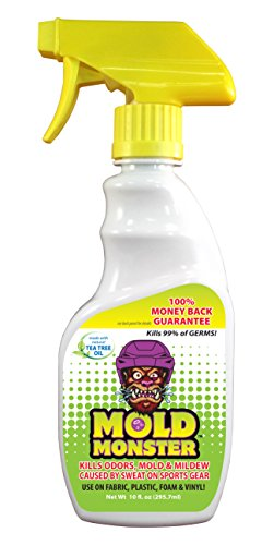 Mold Monster - Eliminates Odor, Mold & Mildew on Fabric, Plastic, Foam and Vinyl - Non Toxic, Environmentally Friendly - 10z Trigger Spray Bottle (Sports)