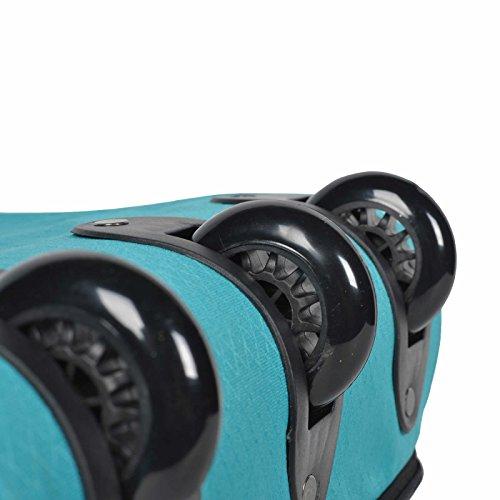 COCOONO Borsone da viaggio XXL con ruote, 100-135litri di volume, pieghevole, trolley modello STORM, colori a scelta, nero (multicolore) - 15581