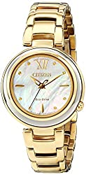 Citizen Eco-Drive Women's EM0334-54D Citizen L Sunrise Analog Display Gold Watch