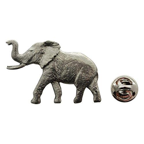 Elephant Pin ~ Antiqued Pewter ~ Lapel Pin ~ Sarah's Treats & Treasures