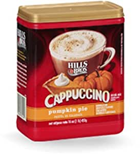 Hills Bros Cappuccino Pumpkin Pie 16 Oz (Pack of 2)