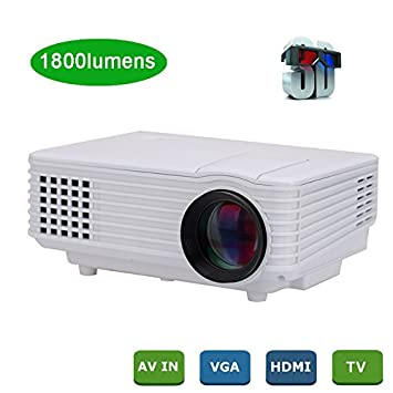 MU Proyector LED 1800 lúmenes full hd 3D nativa TV 1920 x 1080p de ...