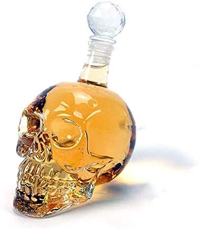 Decanter Whisky, Botella cristalina del cráneo, Cristal ...