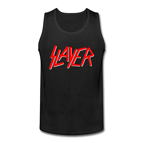 RNUER Slayer Logo Men's Vest Tank Top 100% Cotton