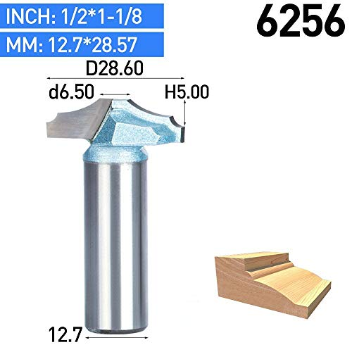 - 1 piece HUHAO 1pc 1/2 Shank Trimmer Router Bits For Wood Tungsten Carbide Woodworking Engraving Endmill Tools For Hard Wood MDF