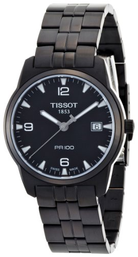 Tissot Men's T0494103305700 PR 100 Black Dial and Bracelet Watch