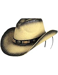 Classic Outback Tea Stained Cowboy Hat w  Beaded Band - Shapeable Brim ·  Saddleback Hats 3c017e2d9275