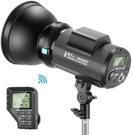 German Engineered for Location Shooting Trigger Included Outdoor Studio Flash Strobe with 2.4G System 2 Packs Li-ion Battery Neewer Vision 4 300W Li-ion Battery Powered 700 Full Power Flashes