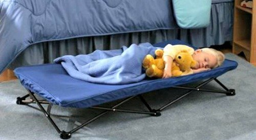 Kids, Child Size, Toddler, Portable, Travel Sleeping Cot (Blue) -