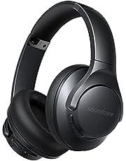 Soundcore by Anker Life Q20+ Słuchawki Bluetooth z aktywną izolacją szumów, 40h żywotności baterii, Hi-Res Audio, Soundcore App, podłączenie do 2 urządzeń jednocześnie, dla domu, biura, podróży