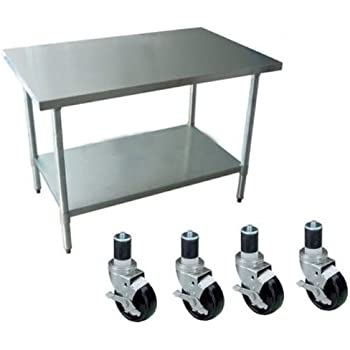 Amazon Com 24 Quot X 48 Quot Work Table With 4 Casters Wheels