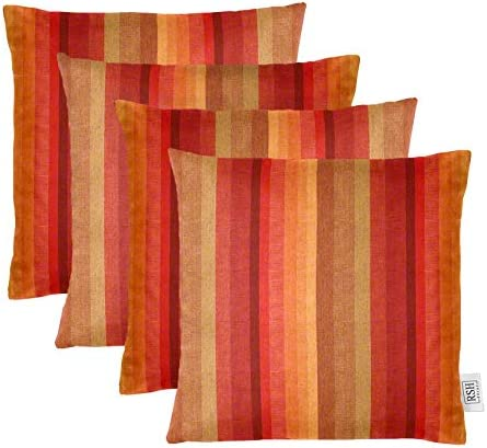 RSH D cor Set of 4 Indoor Outdoor Square Throw Pillows Sunbrella Astoria Sunset 24 x 24