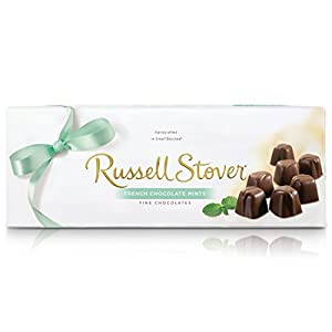 Russell Stover French Chocolate Mints Box 10 Ounce