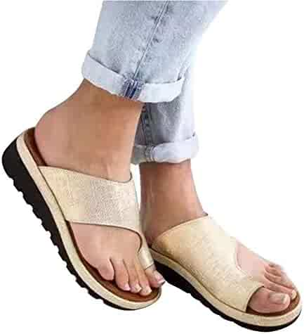7f735ef34c twbbt Toe Bunion Corrector,Women Comfy Platform Sandal Shoes,Big Toe Hallux  Valgus Support