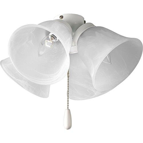 Airpro 4 Light - Progress Lighting P2643-30 4-Light Universal Fan Light Kit, White