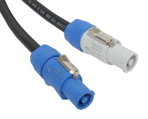 Elite Core Neutrik PowerCon Power Extension Cable   50' ft   PC12-AB-50   Made in the USA  