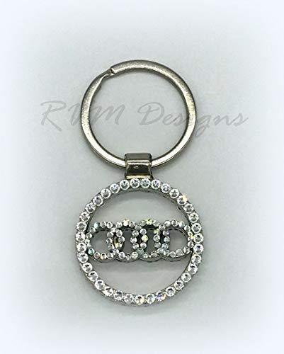 Metal key chain made with Swarovski Crystals