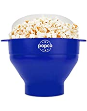 The Original Popco Silicone Microwave Popcorn Popper with Handles, Silicone Popcorn Maker, Collapsible Bowl Bpa Free and Dishwasher Safe - 10 Colors Available