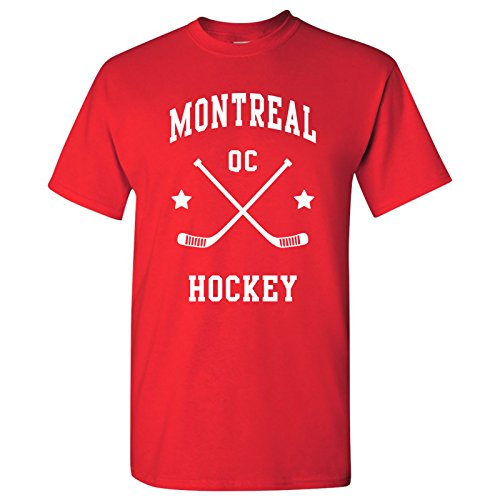 Montreal Classic Hockey Arch Basic Cotton T-Shirt - X-Large - Red - Montreal Canadiens Rink