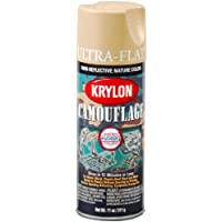 Krylon K04295000 Camouflage With Fusion For Plastic Paint Technology Aerosol Spray Paint, 11-Ounce, Camouflage Sand by Krylon