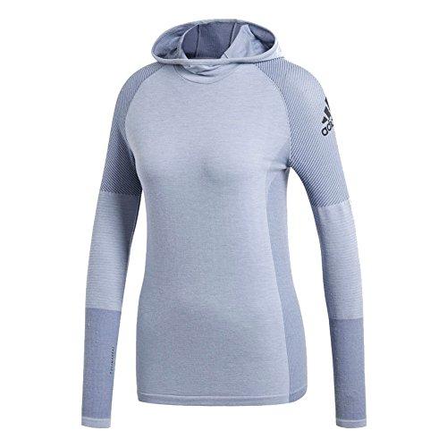 adidas Sport Performance Women's Climaheat Primeknit Hooded Tee, Raw Grey, XS ()