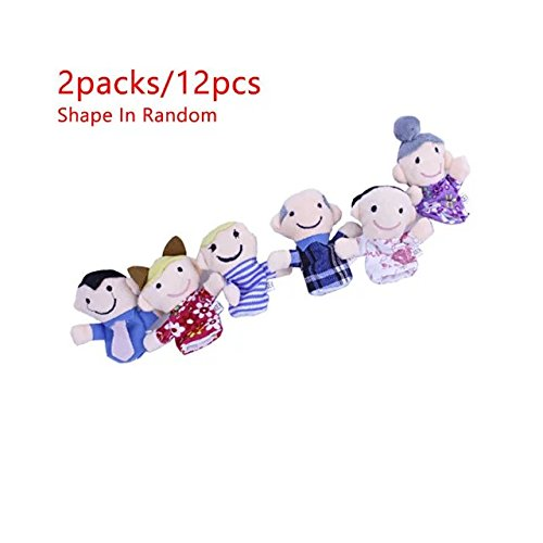 [KateDy 2 Packs/12 pcs Family Finger Puppets Lovely Finger Plush Toy Little Men Finger Puppets Baby Story Toll Set Family Toys Doll for Children, Shows, Playtime, Schools] (Wizard Of Oz Tattoo Ideas)