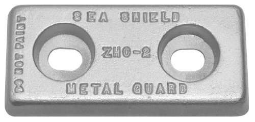 Plate Zinc Anode (ZHC-2) 2.5 lbs With Slotted Holes