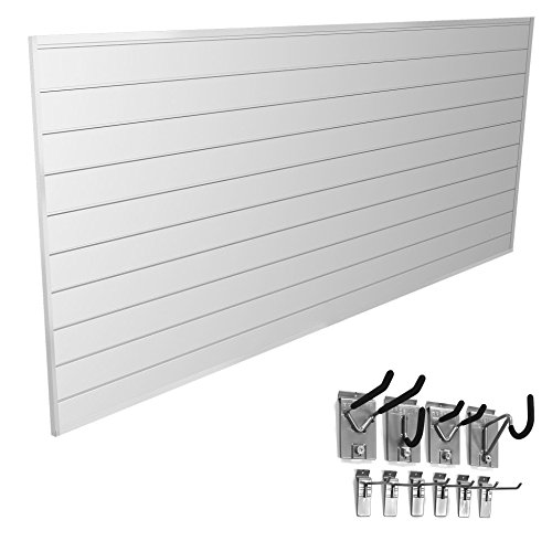 Proslat 33006 Mini Bundle with Slat Wall Panels and Mini Hook Kit, White by Proslat