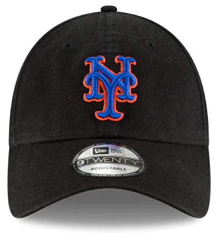 New Era New York Mets Core Classic Black 9TWENTY Adjustable Hat : ()