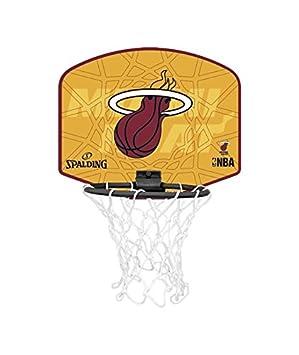 Spalding Mini canasta de baloncesto Nba Miami Heat: Amazon.es ...