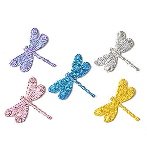 - 5 Pcs Delicate Embroidered Patches,Iron On Patches, Sew On Applique Patch,Dragonfly Embroidery Patches, Cute Patches for Men, Women, Boys, Girls, Kids