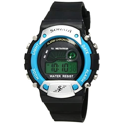 41f0hDXr6CL. SS500  - Sonata Digital Grey Dial Men's Watch -NK7982PP04