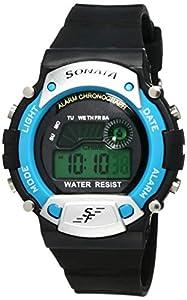 Sonata Digital Grey Dial Men's Watch -NM7982PP04 / NL7982PP04