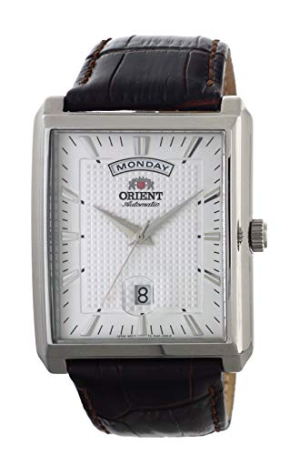ORIENT Classic Automatic Wide Day Date Dress Watch EVAF005W