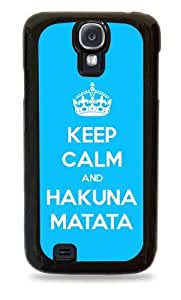 445 Keep Calm and Hakuna Matata- Black Silicone Case for Samsung Galaxy S4