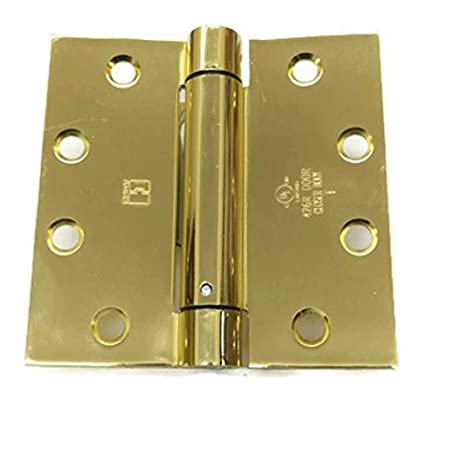 Hager Spring Hinge 1250 4.5 x 4.5 US26D//652 Single Acting Full Mortise Box of 3 Hinges Satin Chrome
