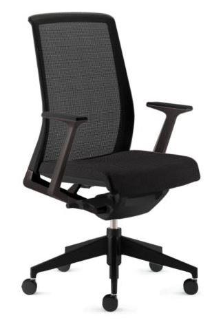 Haworth Very Task Chair: Basic Model - Fixed Arms - Hard Flo