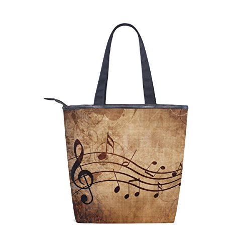 Tote MyDaily Womens Vintage Notes Music Canvas Bag Handbag Shoulder 1ZrdxwPqZ