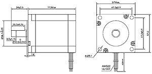 High Torque Nema 23 CNC Stepper Motor 114mm 425oz.in/3Nm CNC Mill Lathe Router