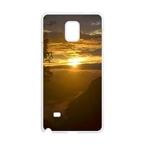 {Funny Series} Samsung Galaxy Note 4 Case Ooty, Girl Design Case Okaycosama - White