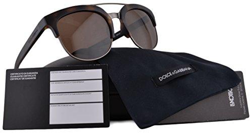 Dolce   Gabbana DG6103 Sunglasses Matte Dark Havana w Brown Lens ... 1af57bcbd834