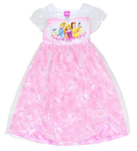 Disney Girls' Little Multi-Princess Fantasy Gown, Sweet Pink, 6 (Frozen Pjs 5t)